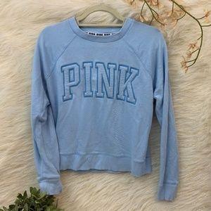VS Pink Crewneck Pullover Blue Sweatshirt XS